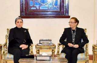 السيدة إنتصار السيسي تقدم واجب العزاء لأسرة الرئيس الأسبق محمد حسني مبارك