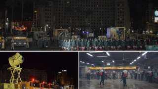 القوات المسلحة تعقم وتطهر ميدان التحرير ومرافق حيوية بمحيطه