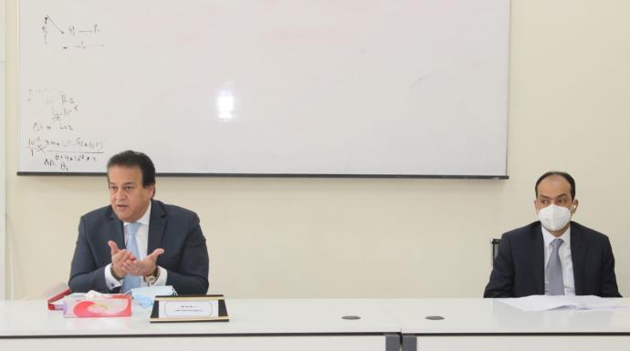 وزير التعليم العالي يترأس اجتماع مجلس شئون المعاهد