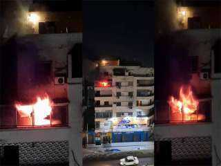 حريق شقة ومصرع مسن بالدقى